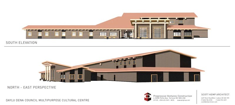 Artist rendering of a new multipurpose cultural centre in Lower Post.