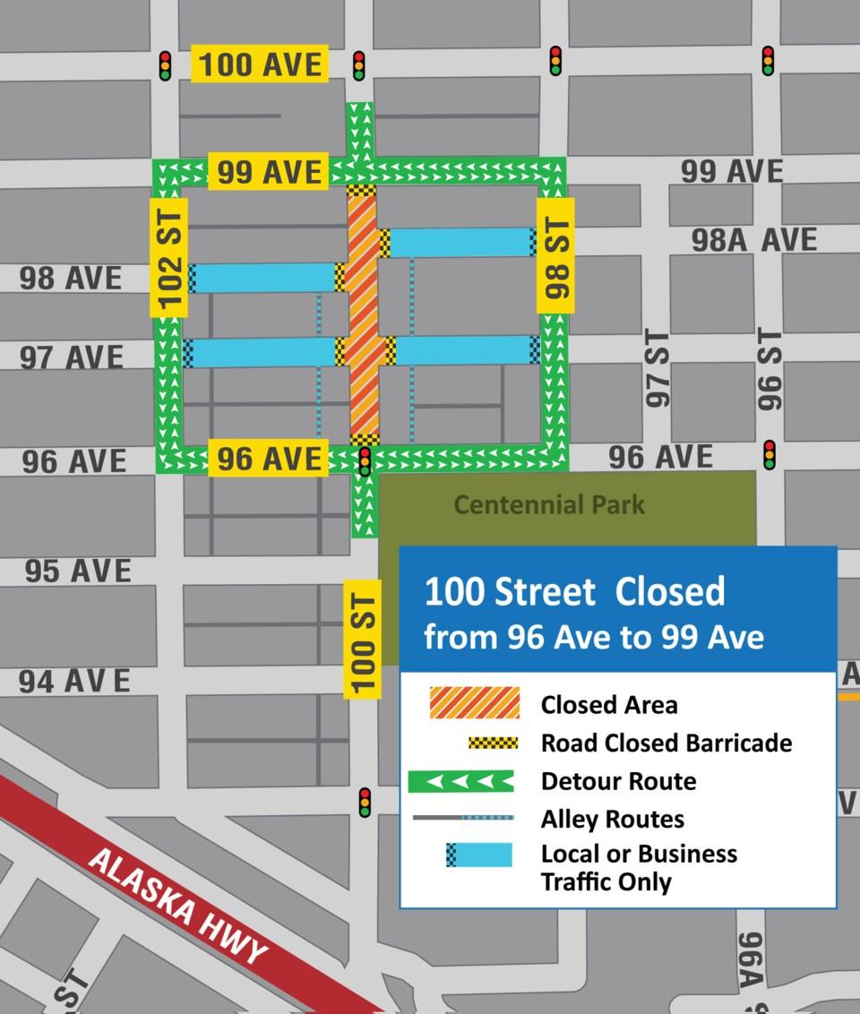 CityMap-100StreetDetour2021