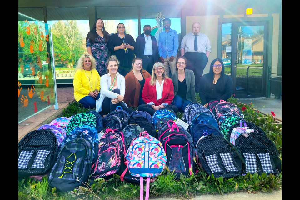 MNP dropped off 50 backpacks filled with school supplies to Nenan Dane Zaa Deh Zona Children & Family Services on August 27.  The backpacks will go to students of the Indigenous communities that Nenan works with to help families have a strong start to the school year.