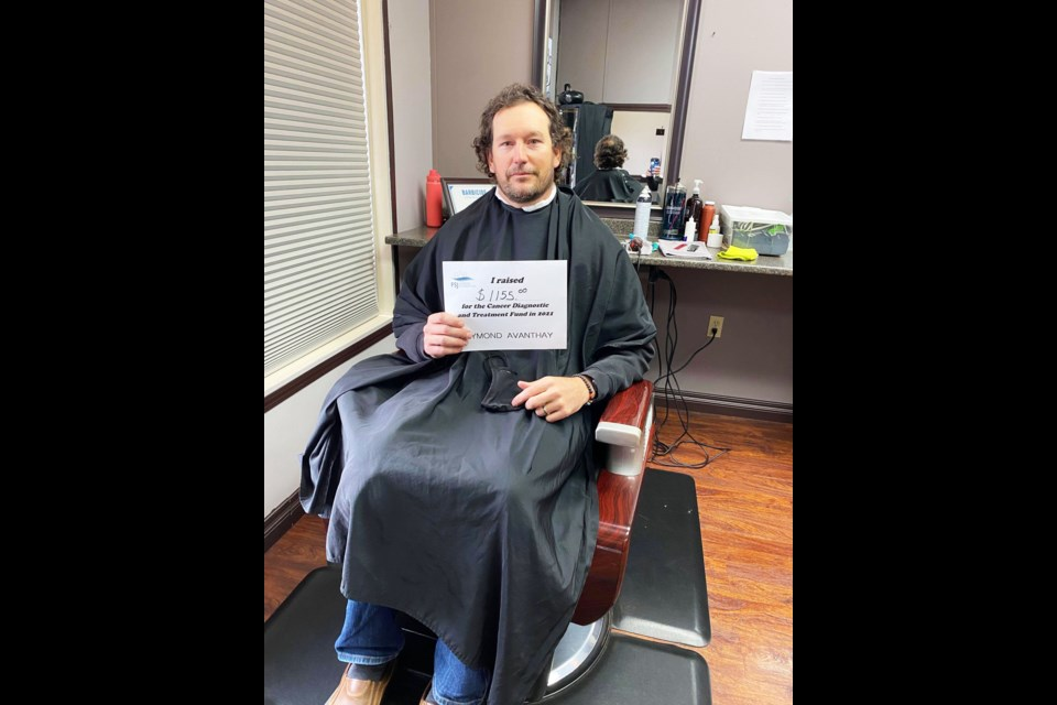 Raymond Avanthay raised $1,155 to shave his head on Bluey Day, September 18.