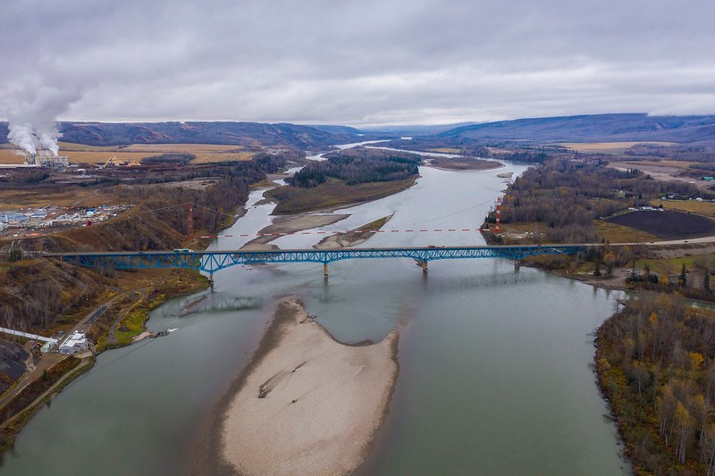 Taylor Bridge over the Peace River. (Ministry of Transportation and Infrastructure)