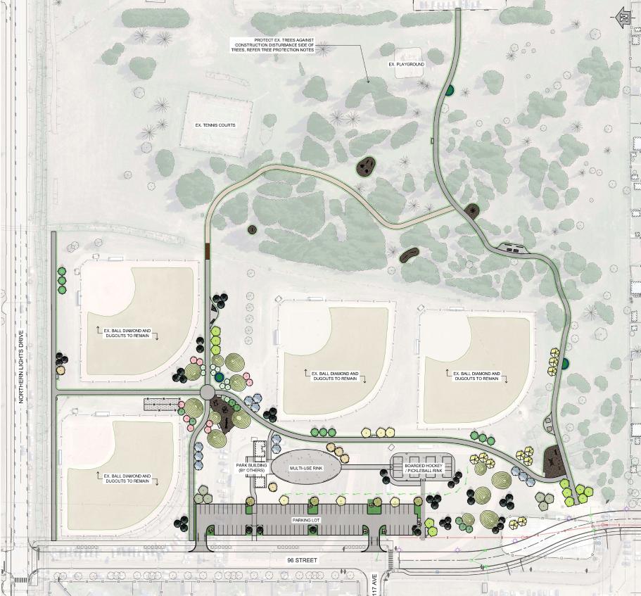 Kin Park site plan.