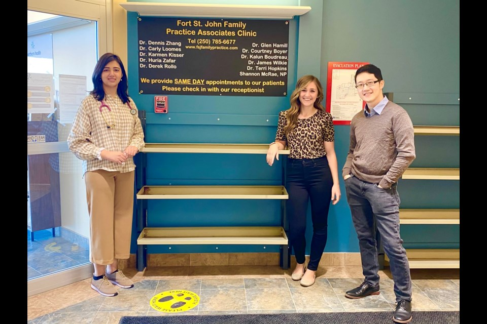 Dr. Huria Zafar, Dr. Courtney Boyer, and Dr. Dennis Zhang were welcomed to the Fort St. John Family Practice Associates Clinic.