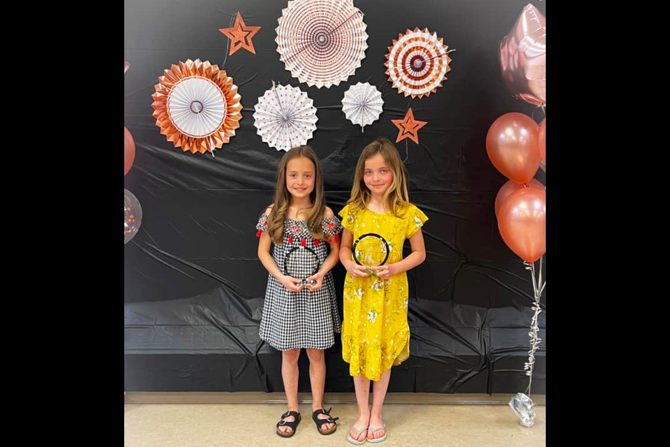 Kinley and Blayke Fast both received the Energizer Bunny award from the Fort St. John Figure Skating Club.