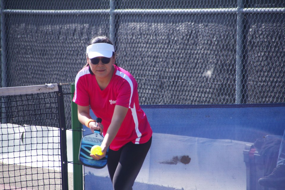 Christina Guo was first on the ladies side of the Summer Slam Pickleball Tournament, August 29, 2021.