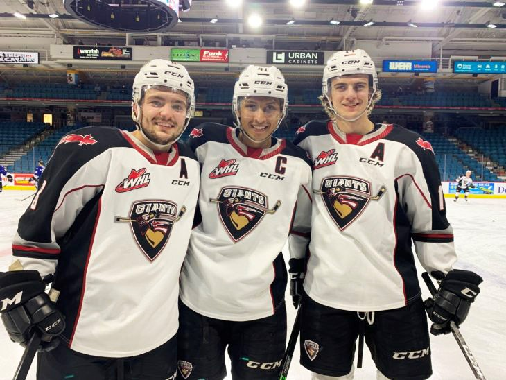 Tristen Nielsen, Alex Kannok-Leipert , and Eric Florchuk all played their final WHL game Tuesday, May 11.