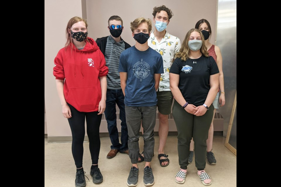 The Youth Changing Tomorrow Leadership Committee, from left: Nora Redford, Kayden Bolin, Viggo Pedersen, Owen Lang, Jessica Giesbrecht, Brianna Rogerson. (Not pictured: Molly Koponyas)