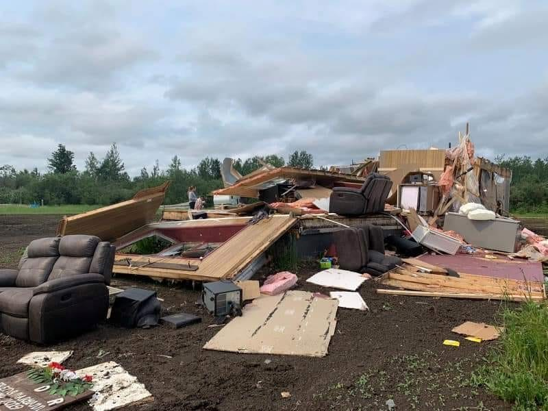 Storm damage in Blueberry River First Nation, July 1, 2021. Submitted by Brennen Bankhead