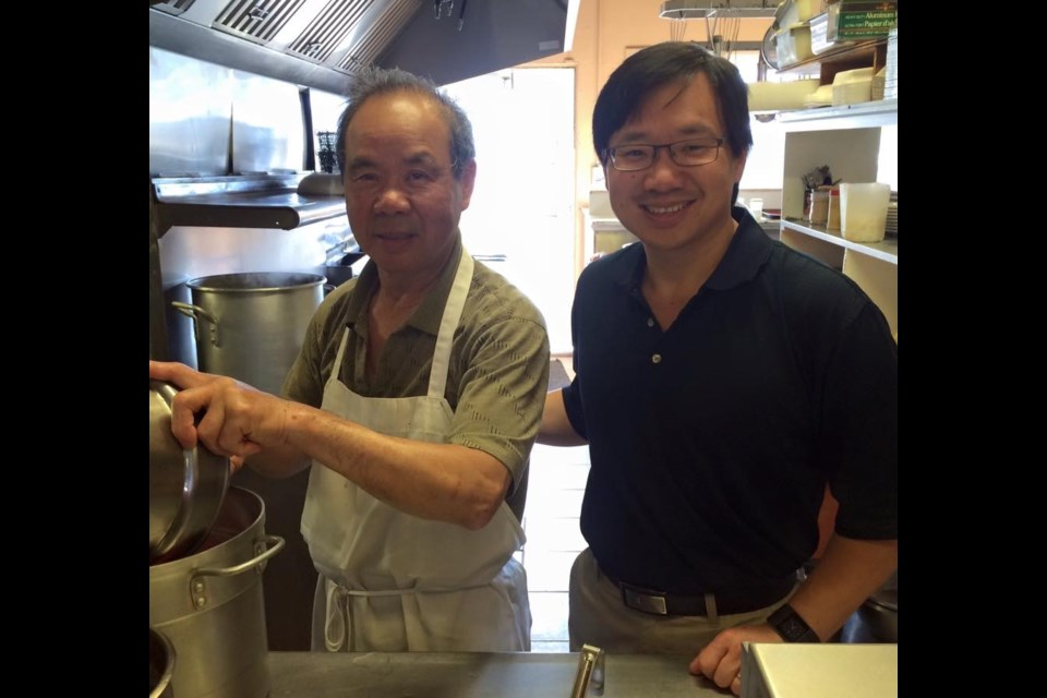 Fon and William Choy in the kitchen at Bing's #1 Restaurant. Photo submitted