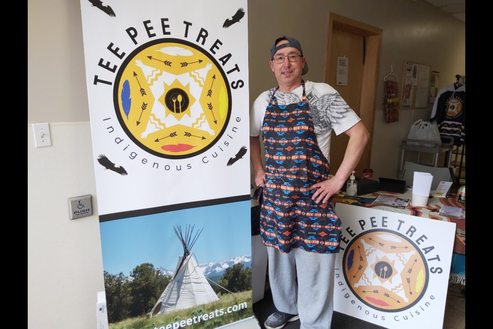 Curtis Cardinal, owner and founder of Tee Pee Treats, offers Indigenous infused 'comfort food' at his takeout location in central Edmonton.Photo: Kate Wilson