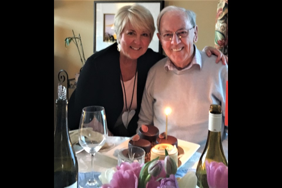 Alison Phillips and her dad, Max Phillips, now 91. Photo submitted.