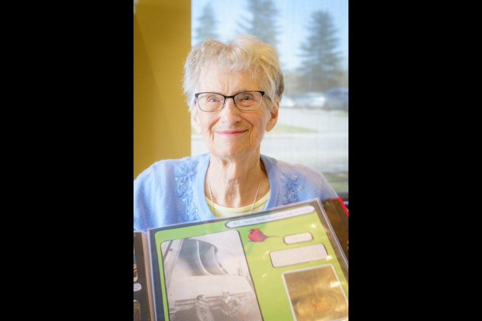 Helen Mustard, 98, used her pandemic time to create a pictorial history book of the history of north central B.C. Photo: Bandi Szakony, BandiPhotoGraphy.com