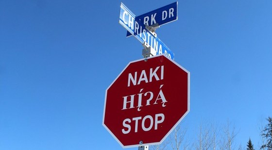 RMWB installing more than 60 Cree, Dene and English stop signs in rural hamlets