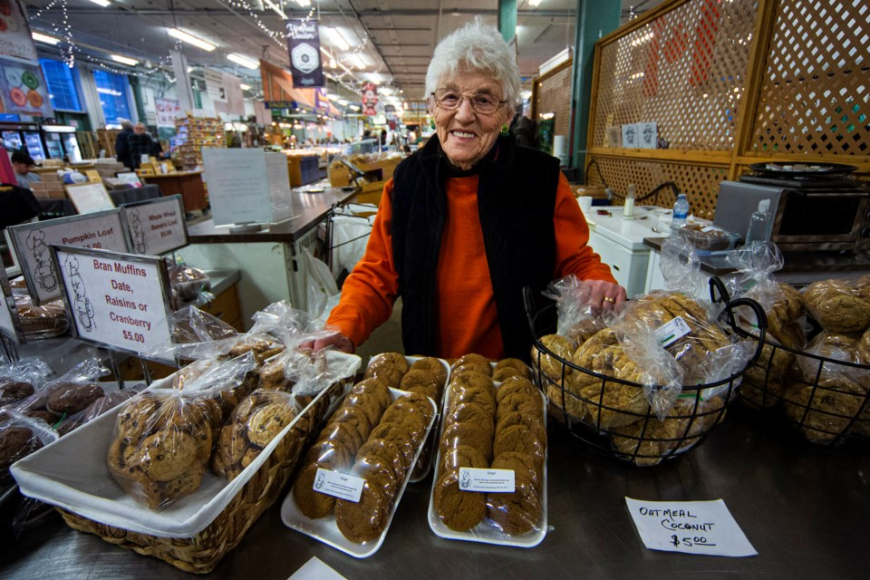 Evelyn Dickhout, better know as the owner/operator of Gramma Bear's Home Baking, can be found at her station at the Old Strathcona Farmer's Market every Saturday. CHRIS COLBOURNE/St. Albert Gazette