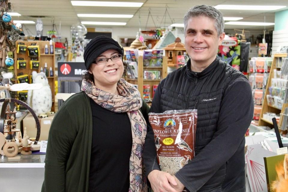 Kay Kozlowski and Steve Kulak of Wildbird General Store.