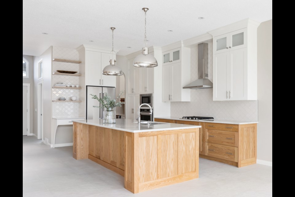 Accessible and ergonomic features in the renovated kitchen are designed to reduce bending and back/eye strain, plus provide safe movement in and around appliances. Photos supplied by ADM Interiors.