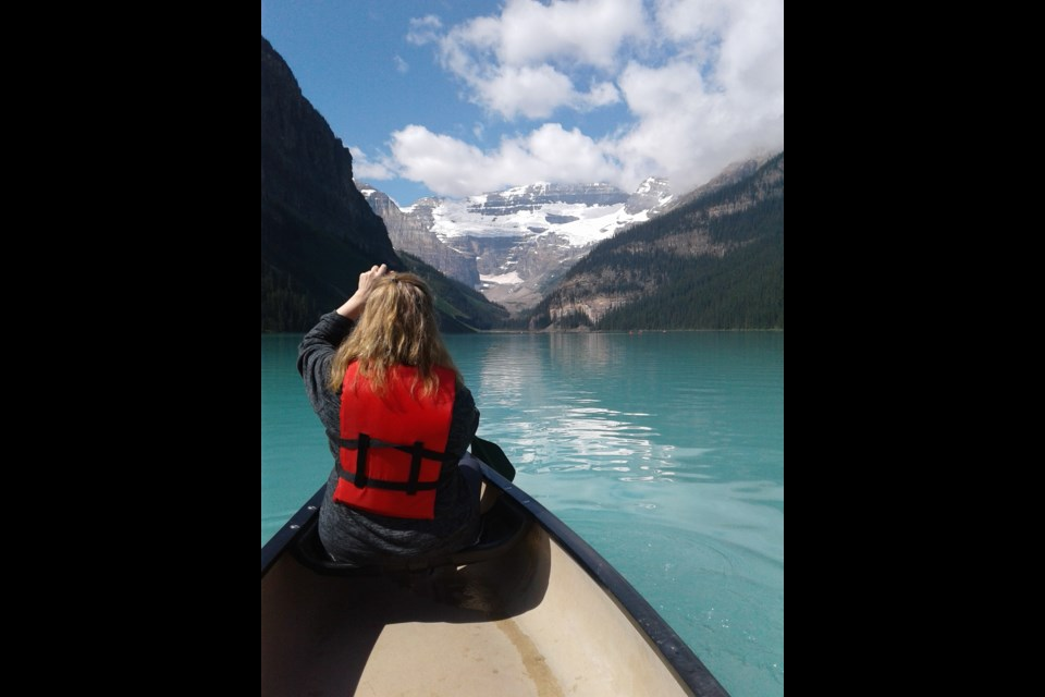 Get a canoe rental from the Boathouse at Lake Louise and take an iconic glide on the turquoise waters. Photo: G. Haines
