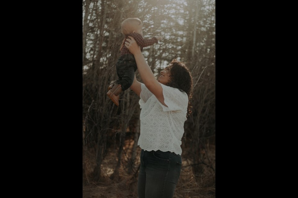 Gail and baby boy Ty--something that was meant to be. Photo submitted.