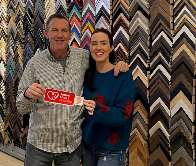 Nicole and Bernard Drouin have owned 17th Avenue Framing for over 20 years. Photo supplied by Nicole Druin.