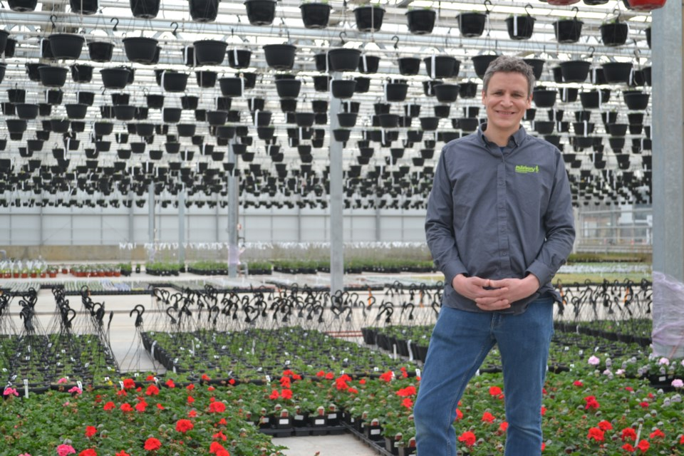Rob Sproule at the sprawling new greenhouse operation Salisbury at Enjoy in St. Albert. Photo: Lucy Haines