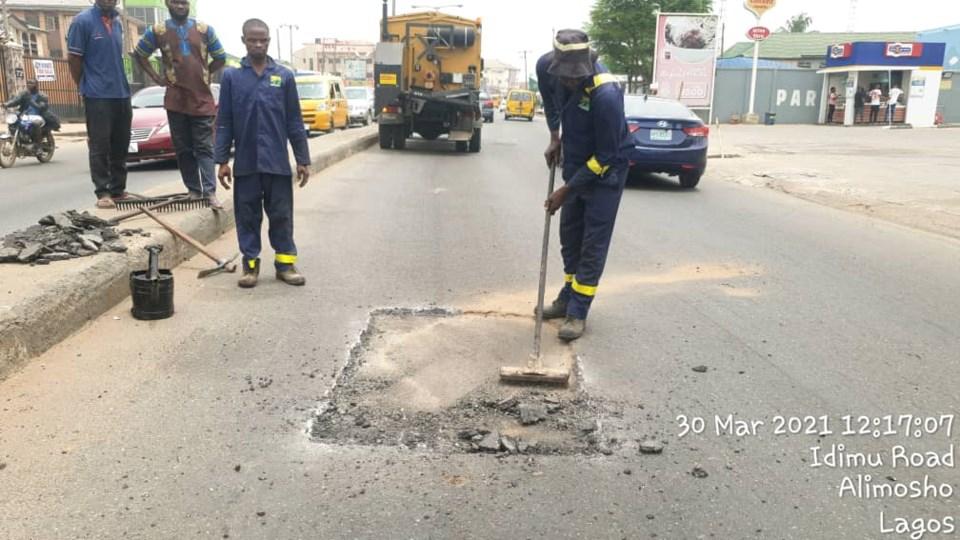 Car wash road rehabilitation