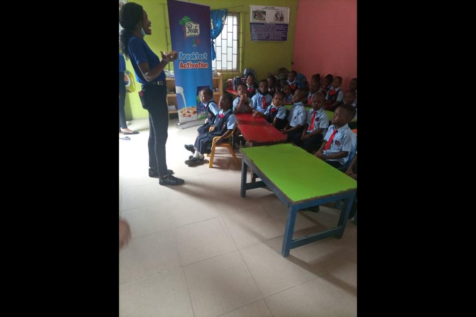 PEAK AMBASSADOR TEACHING THE KIDS