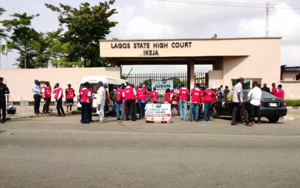 Judiciary workers begin indefinite strike, Lagos courts shut down
