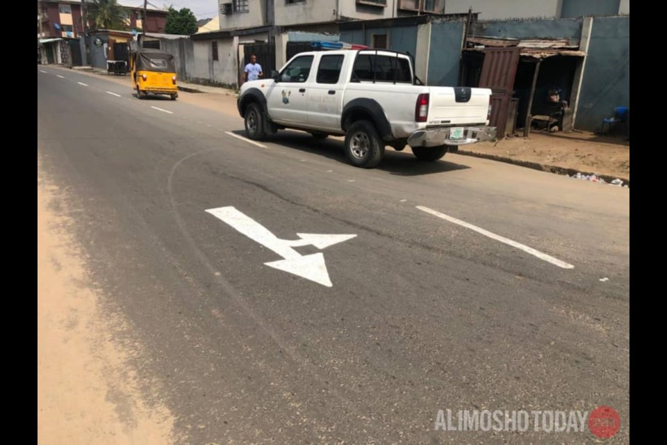 Completed road construction on Ogunlana street