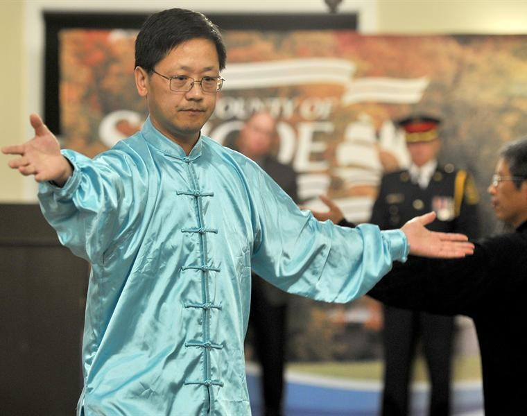 Jianwei Wu shares some tai chi at last year's newcomer awards gala. Nominations are open for this year's awards.