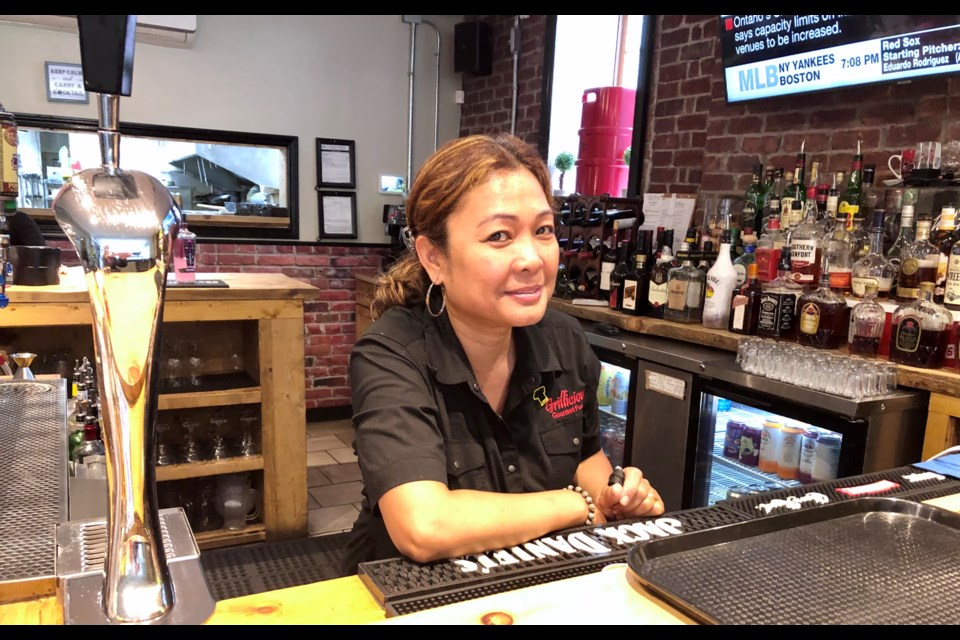 Josie Fabreo at Grillicious Gourmet Tap & Grill saw a big drop in business when proof of vaccine was imposed last week.