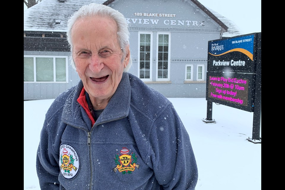 Al Neill happily waits for a bus outside the Parkside Community Centre in the city'€™s east end after taking part in one of the City of Barrie's 55+ Centres events. Ian McInroy for BarrieToday