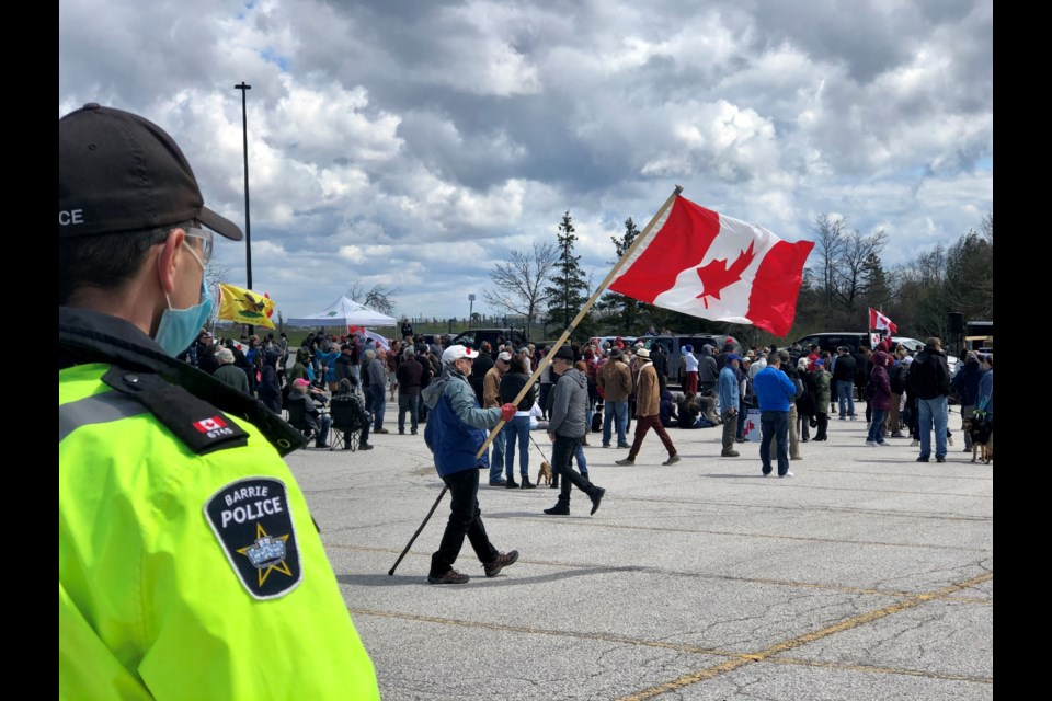 Police kept a watchful eye out on Saturday's event. Marg. Bruineman/BarrieToday