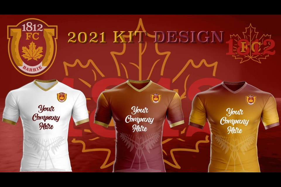 The official jerseys of 1812 FC. Image supplied