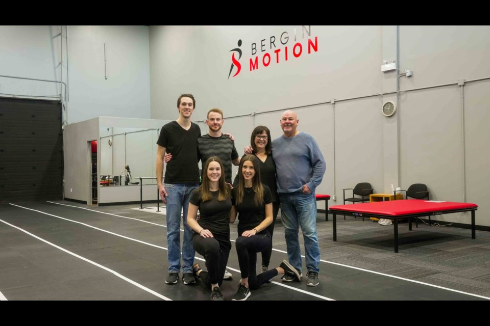 A new physiotherapy clinic in Barrie's south end is a family affair, with six members of the Bergin family coming together to offer a variety of rehabilitation options. From left: Peter Bergin, Juliana Bergin, Alex Bergin, Sybille Bergin, Katja Bergin, Bob Bergin.