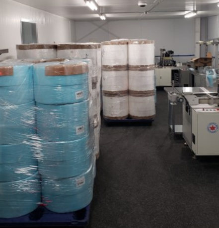 Mediguard Systems of Canada, located in south-end Barrie, has shipments of personal protective equipment (PPE) ready for delivery in its storage area.