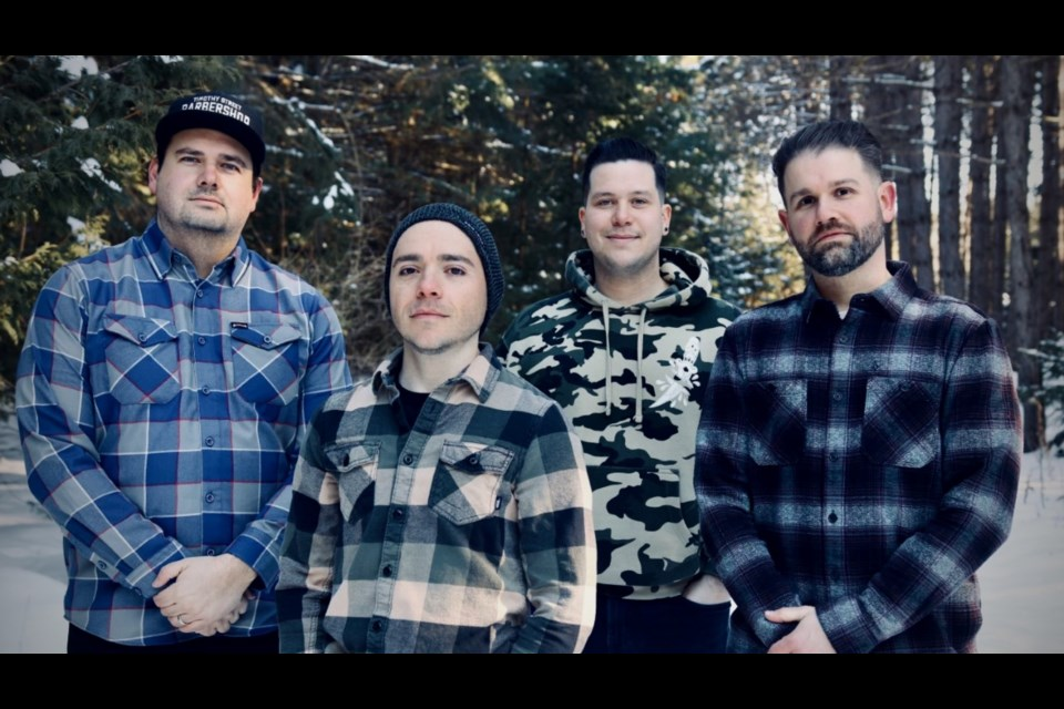 Pop-punk band Hey Slugger are set to release their first single April 9. From left: John Miorin, Craig Terzievski, Andrew Salazar and Jeff Britten.