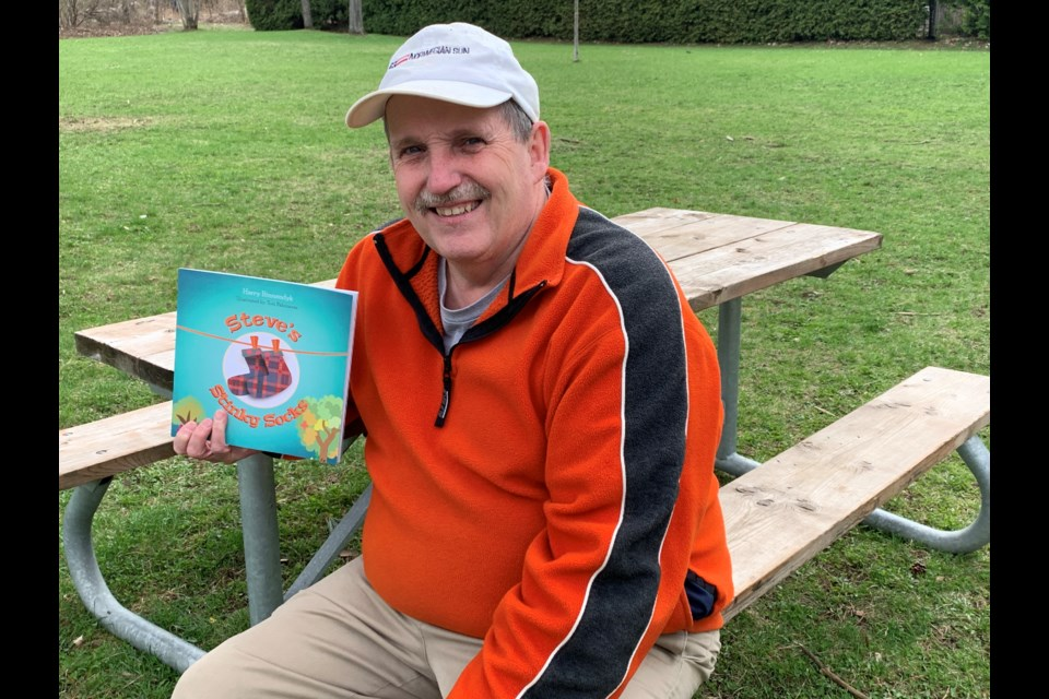 Midhurst resident Harry Binnendyk is enjoying taking stories from his imagination and sharing them in book form with kids far and wide.