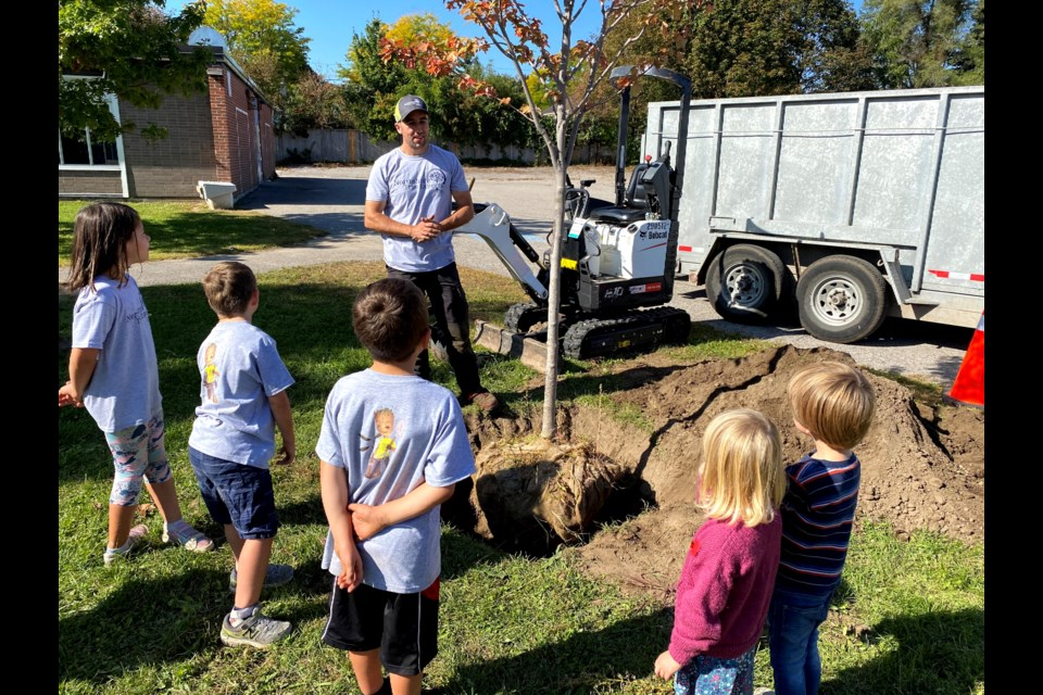 John Corner and the crew at Northshore Tree Experts will be at Codrington Public School later this month to plant five trees as part of their Free Tree Program.