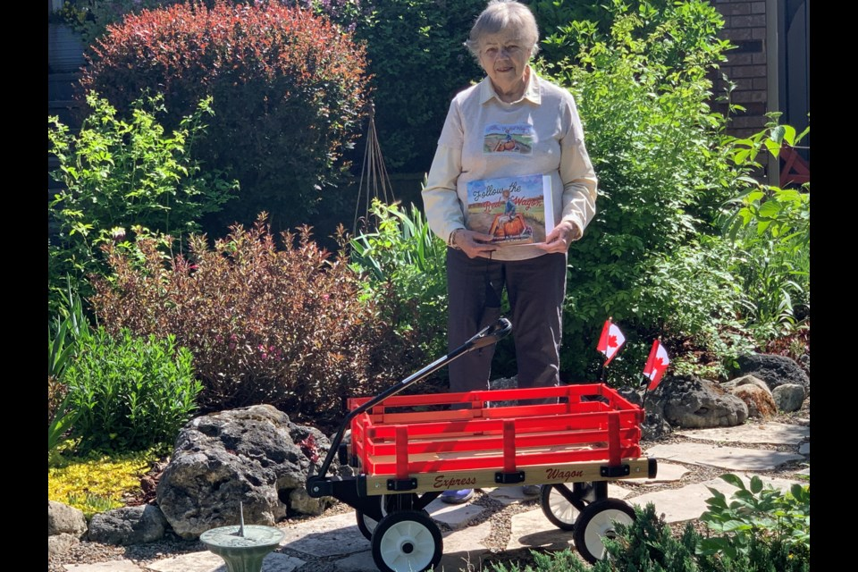 Retired primary school teacher Margot Edge has published her first book titled Follow the Red Wagon.