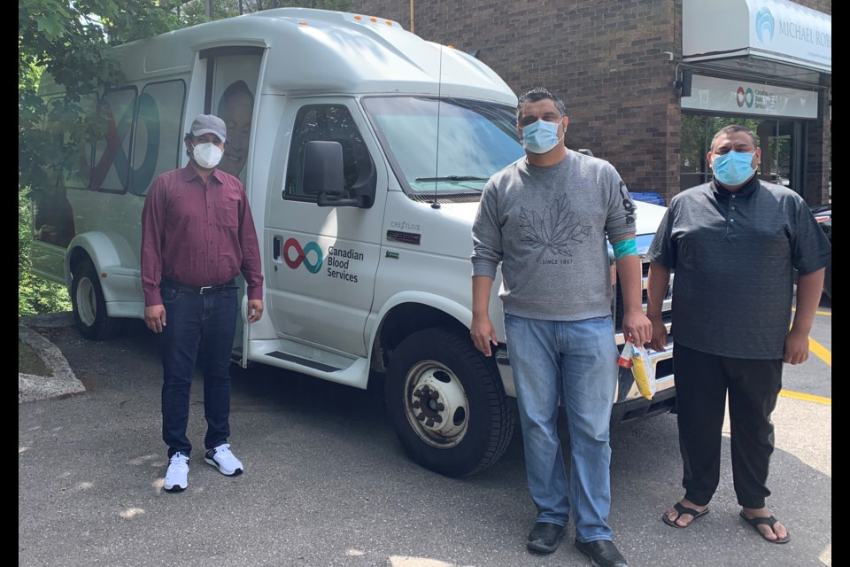 Members of the Barrie branch of the Ahmadiyya Muslim Youth Association came out to donate blood for Canadians in critical need as part of a nation-wide initiative.