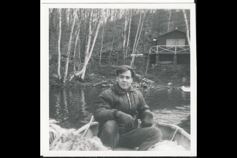"""Barrie resident Dieter Mueller, shown here at the family cottage on Otter Lake in 1965, is excited about the prospect of uncovering a more than 50-year-old """"sunken treasure"""" on the lake where he grew up."""