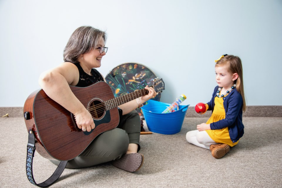 Heidi Flynn, owner and director of Music Therapy Services of Simcoe County works with students using music to reach a variety of different goals.