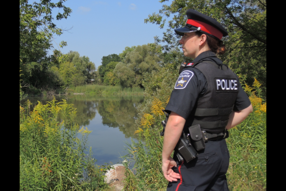 Barrie police Const. Nicole Hankin, then known by her maiden name of Rodgers, is shown in a 2017 file photo.