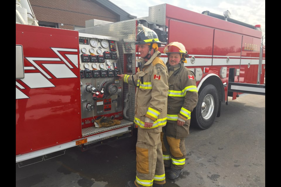 New recruits trained at Innisfil Fire Station 2 this week.