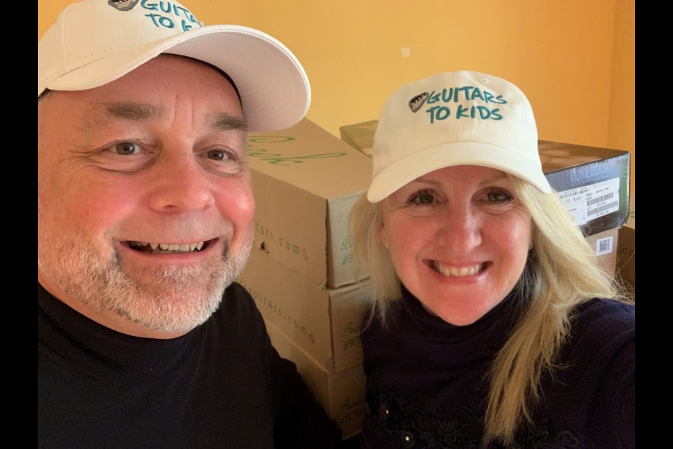 Marcy Baldry and Randy Parson launched Guitars to Kids, a non-profit organization that collects and refurbishes used guitars and provides them free-of-charge to youth in the Simcoe Muskoka Region
