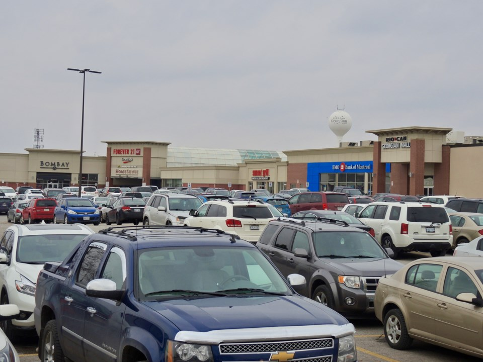 Image result for georgian mall full parking lot