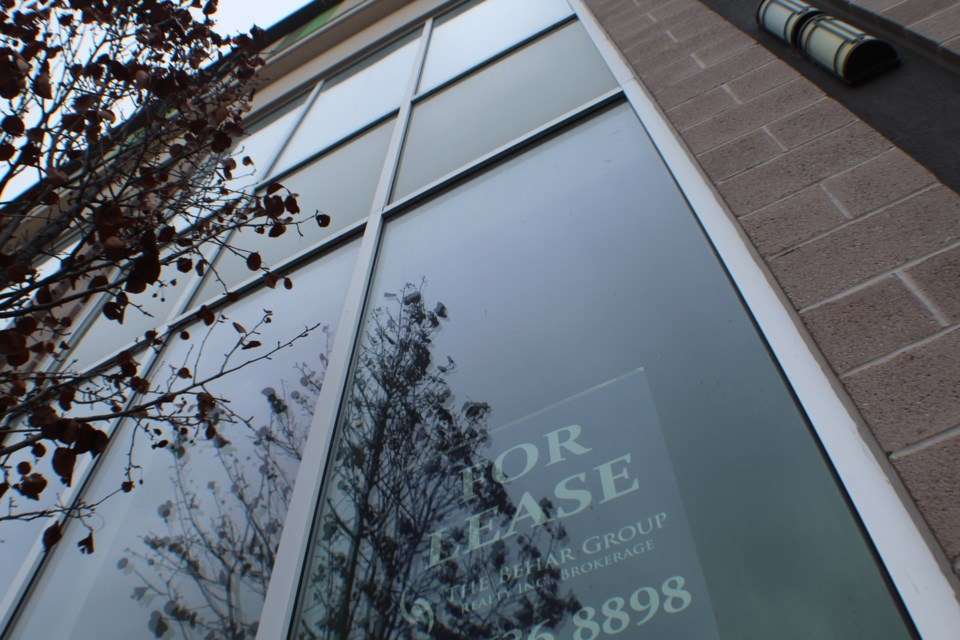 Collier Centre in downtown Barrie includes several vacant spaces. Raymond Bowe/BarrieToday