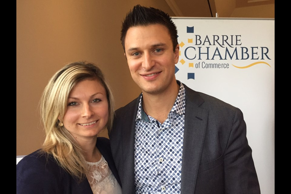 Finalists Mark and Joanna Faris of the Faris Team.