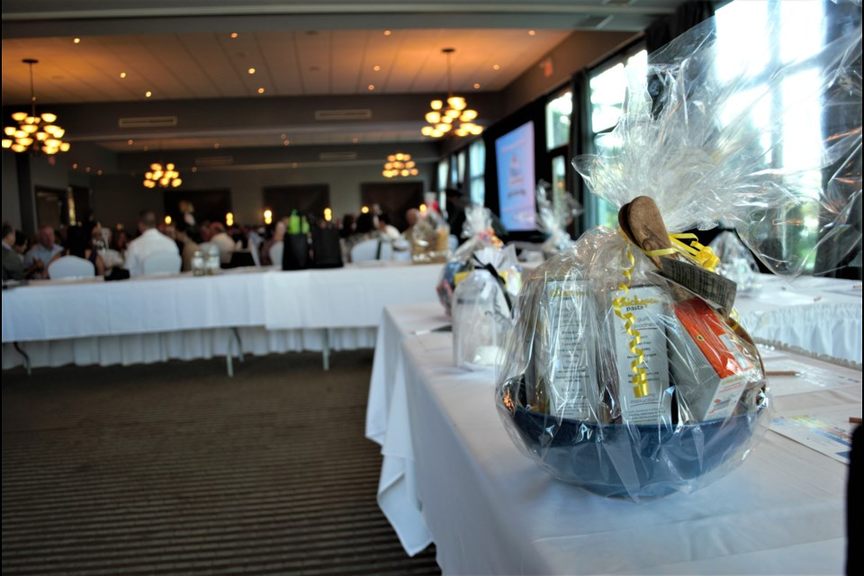About 100 local businesses donated items to the silent auction at the Collingwood Chamber of Commerce business excellence awards. Jessica Owen/Collingwood Today