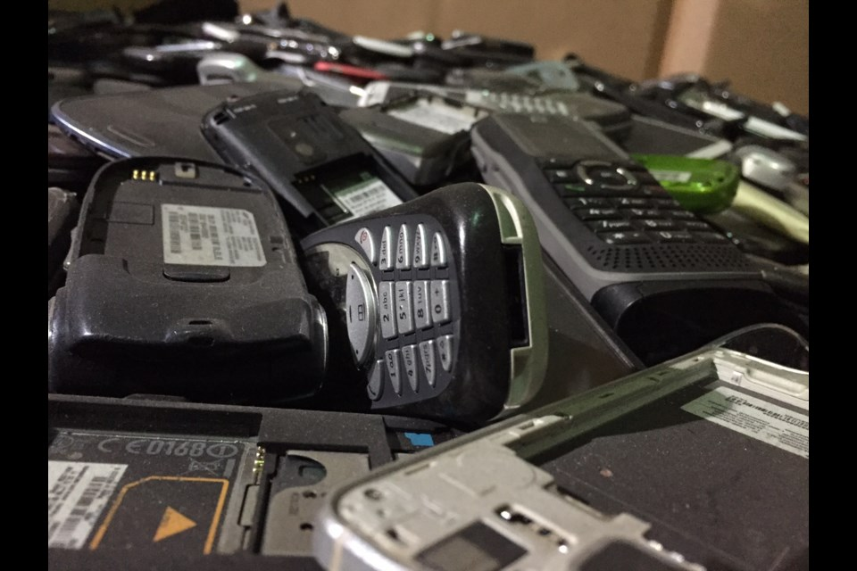 """The producer of Discovery Channel's Made For Destruction series says she's never seen anything like the """"mountian of cell phones"""" at GEEP in Barrie.  Sue Sgambati/BarrieToday"""